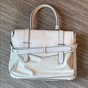 Reed Krakoff White Leather Boxer Tote